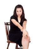 Женщина на стуле Стоковое фото RF