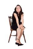 Женщина на стуле Стоковое Фото