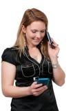 Женщина на телефоне Стоковые Фото