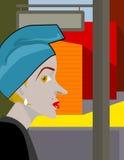 Женщина на улице Стоковые Изображения RF