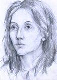 женщина неисвестня 3 портретов Стоковые Изображения
