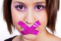 Женщина не может scream Стоковое Фото