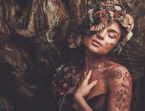 Женщина нимфы стоковые фото