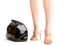 женщина ног сумки стоковые изображения