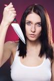 женщина ножа стоковые фото