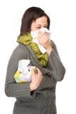 женщина носового платка Стоковые Фотографии RF