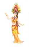 Женщина нося типичные тайские одежды в акварели Стоковое Изображение