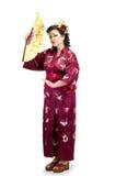 Женщина нося традиционные национальные дальневосточные одежды Стоковые Фотографии RF