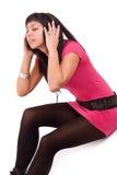 женщина нот ощупывания Стоковая Фотография RF