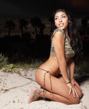 женщина ночи дюн Стоковые Фото