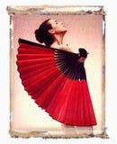 женщина обнажённого вентилятора Стоковая Фотография