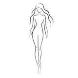 женщина обнажённого Стоковые Изображения RF