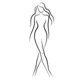 женщина обнажённого Стоковые Фото