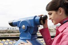 женщина обсерватории ся Стоковая Фотография RF