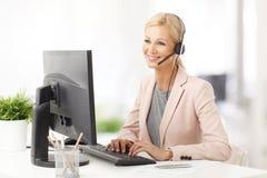 Женщина обслуживания клиента Стоковые Изображения