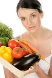 женщина овощей Стоковое Изображение RF