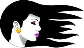 Женщина логотипа Стоковые Изображения