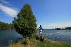 женщина озера серебряная Стоковое фото RF