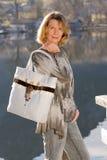 женщина озера сумки Стоковые Изображения RF