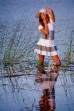 женщина озера сь Стоковое Изображение