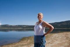 женщина озера Стоковая Фотография RF
