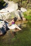 женщина озера gredos сексуальная Стоковое Фото
