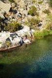 женщина озера gredos Стоковые Фотографии RF