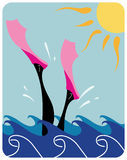женщина океана подныривания Стоковая Фотография