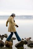женщина океана стоковое изображение