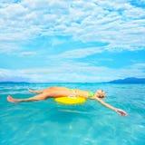женщина океана Стоковые Фото