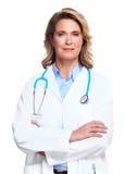 Женщина доктора с стетоскопом. Стоковое Фото