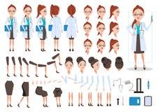 женщина доктора иллюстрация вектора