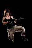 женщина оружия военной формы Стоковое Фото