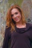 женщина осени стоковая фотография rf