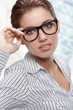женщина офиса стекел нося Стоковое фото RF