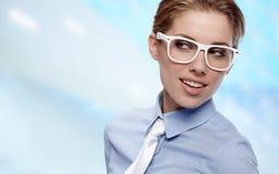 женщина офиса стекел нося Стоковые Изображения RF