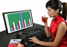 женщина офиса Стоковое фото RF