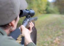Женщина охотника в падении Стоковые Фото