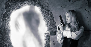 женщина охотника щедрот Стоковое Изображение