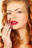 Женщина очарования горячая красивая Стоковое Изображение RF