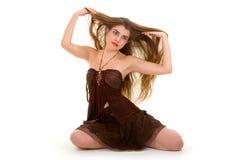 женщина очарования Стоковые Фотографии RF