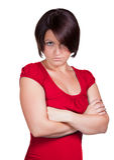 Женщина очень расстроена Стоковое Изображение