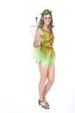 Женщина одетая как фея Стоковая Фотография