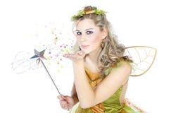 Женщина одетая как фея Стоковые Фото