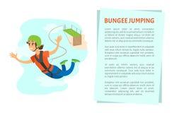 Женщина падая от моста, вектора Bungee скача бесплатная иллюстрация