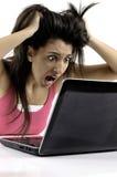 женщина паники дела Стоковые Изображения RF