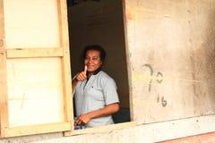 Женщина папуасския стоковые фото