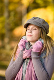 женщина парка модели способа осени Стоковая Фотография RF