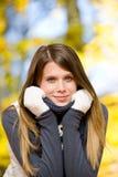 женщина парка модели способа осени Стоковые Фотографии RF