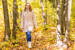 женщина парка осени красивейшая Стоковое фото RF